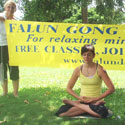 Falun Gong meditation and relaxation sessions